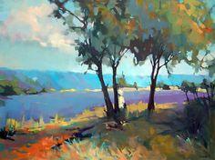 Lavender Vista by Trisha Adams Oil ~ 30 x 40