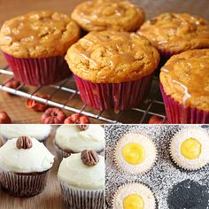 15 Unconventional Cupcake Recipes; dessert, sweet, champagne, carrot, lemon, chocolate, peanut butter