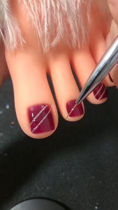Nail Art Designs Videos, Nail Art Videos, Nail Designs, Nail Art Hacks, Nail Art Diy, Tape Nail Art, Diy Acrylic Nails, Latest Nail Art, Stylish Nails