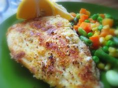"""""""Put a Lyd on it!"""": Parmesan-Crusted Tilapia"""
