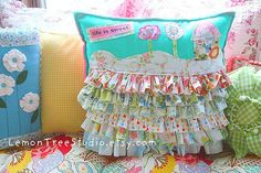 Ruffle Hill Pillow | Flickr - Photo Sharing!