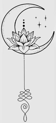 Yoga Tattoos, Cute Tattoos, Body Art Tattoos, Small Tattoos, Tatoos, Lotus Tattoo Design, Tattoo Design Drawings, Tattoo Designs, Simple Tattoos For Women