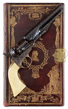 Extraordinarily Rare Engraved Book Cased Colt Model 1862 Police Percussion Revolver (The Esteemed Collection of Steve Ardia)