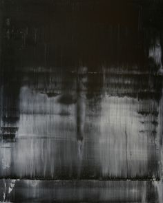 """Koen Lybaert; Oil 2013 Painting """"abstract N° 671 [black and white II] - SOLD [USA]"""""""