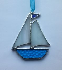 Handmade Stained Glass Sail Boat (small)