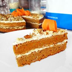 Healthy Desserts, Healthy Recipes, How Sweet Eats, Carrot Cake, Vanilla Cake, Baked Goods, Carrots, Cake Recipes, Food And Drink