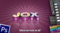 Efecto de Texto 3D en Photoshop y Xara 6.