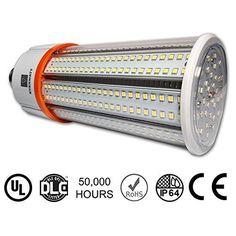 BRIGHT LIGHT 40W LED Corn Light Bulb, Large Mogul E39 Base 5000K #EverWatt