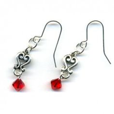 Swarovski Dangle Earrings - Light Siam
