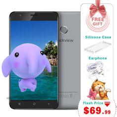 5.5 inch blackview e7s điện thoại thông minh mt6580 quad core 2 gb 16 gb 1280x720 điện thoại di động android 6.0 dấu vân tay 8.0mp unlocked điện thoại
