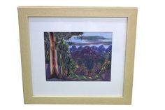 GDL Auctions / Two Days - / Hermannsburg Watercolour / Lot Hermannsburg Watercolour - mounted and framed - Central Australian Scene by 'Steven Walbungara' - X Condition: Very Good. Watercolour, Bottles, Coins, Mad, Stamps, Auction, Around The Worlds, Scene, Pottery