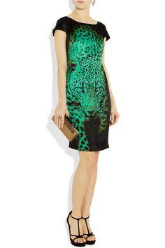 Just Cavalli tiger-print shift dress