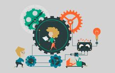Illustration Cogwheel by Kolo_designer Illustration can be used in various fields of graphic design (banners, flyers, brochures, slides). Easily edited with good file st Photos For Sale, Stock Photos, Vector Design, Graphic Design, Dance Silhouette, Activities For Girls, Staff Training, Banner Design, As You Like