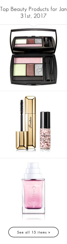 """""""Top Beauty Products for Jan 31st, 2017"""" by polyvore ❤ liked on Polyvore featuring beauty products, makeup, paris in spring, lancôme, lancome beauty products, lancome cosmetics, palette makeup, lancome makeup, beauty and eyes"""