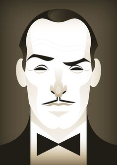 """And the Winner is..."", by Stanley Chow, a digital portrait of Jean Dujardin from the Oscar winning film The Artist"