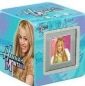 """Disney Hannah Montana Digital Photo Cube-blue by Disney. $0.99. The Vu-Me Hannah Montana Digital Photo Cube is easy to use right out of the box and makes a great gift for any digital camera user. This cool digital photo frame stores and displays up to 70 of your favorite photos, and lets you view them on a full-color 1.5"""" digital screen. Connects to your computer via a USB cable (included). Comes with easy-to-use software that includes 10 photos of Hannah Montana."""