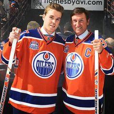 Conor McDavid & Wayne Gretzky - April 2016, Rexall Place, Edmonton, Alberta