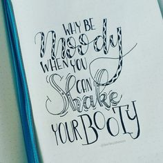 Moody & booty • handlettering by @Barbrusheson