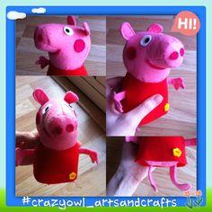 Peppa pig felt doll! // muñeca peppa pig, hecha apartir del molde que amablemente nos deja Kosucas en su blog ;)