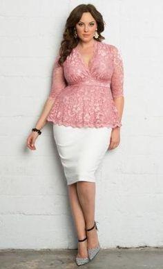 f6252a62c69 Curvalicious Clothes    Plus Size Tops    Linden Lace Top - Rose Quartz