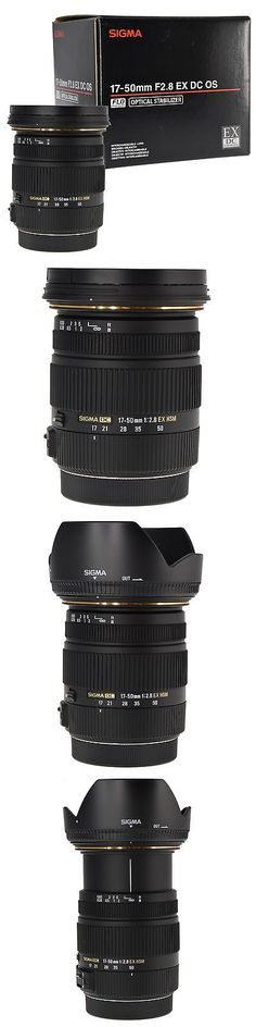 Camera Photo: Sigma 17-50Mm F 2.8 Ex Dc Os Hsm Zoom Lens For Canon Dslrs With Aps-C Sensors -> BUY IT NOW ONLY: $279.95 on eBay!