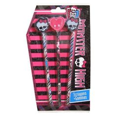 3 #crayons #gomme Monster High. #MonsterHigh