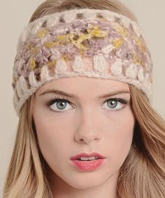 Leto Collection Rose & Yellow Floral Knit Headband