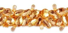 golden embellished jeweled trim