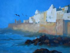 Essaouira, oil painting