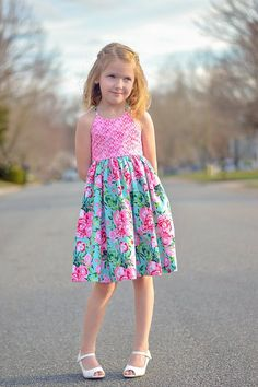 Amsterdam Dress and Top PDF Sewing Pattern, including sizes 12 years, Girls Dress Pattern, Tween Sewing Pattern, Maxi Dress Summer Dress Patterns, Girl Dress Patterns, Sewing Patterns, Little Girl Dresses, Girls Dresses, Toddler Outfits, Kids Outfits, Little Lizard, Kids Clothing Brands