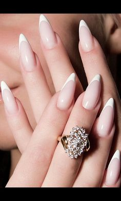 French almond nail manicure