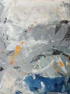 "Saatchi Art Artist Twyla Gettert; Painting, ""Surf's Play- Grey Blue Abstract"" #art"