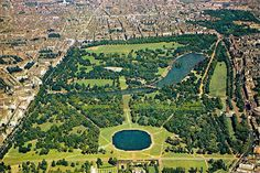 London England, Hyde Park. Considered one of the greatest city parks in the world, Hyde Park is a London staple. The park is expansive at 350 acres and features a lake, a meadow, flower gardens, and thousands of trees. Here, you can swim, bike, boat, and skate your way in and around the park. There's also fields for team sports, tennis courts, horse-riding trails, and a children's playground.