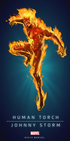 Human_Torch_Classic_Poster_02.png (PNG Image, 2000×3997 pixels)