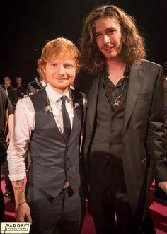 Ed and Hozier at the Grammys aka babes