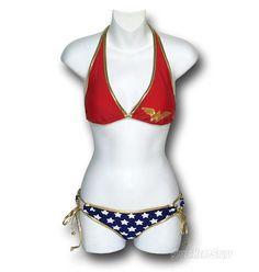 Wonder Woman halter bikini