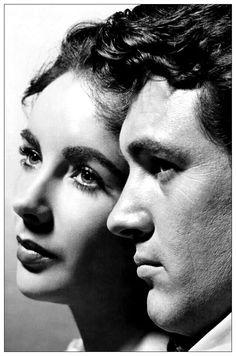Elizabeth Taylor and Rock Hudson