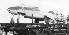 Disassembled He 162 A-1, yellow 5, of 3./JG 1