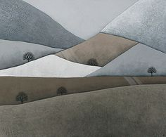 patchwork hills 5 // original contemporary fine art landscape painting on canvas // by natasha newton on Etsy, $888.03