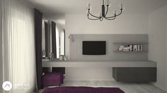 Bedroom design by Anita Ilie Casa Patrata Laundry Room, Bedroom Ideas, Flat Screen, Interior Design, Projects, Houses, Blood Plasma, Nest Design, Log Projects