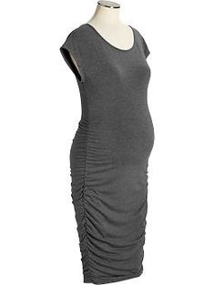 Lots can be done with this.....different jackets, sweaters, and scarfs....Maternity Cap-Sleeved Jersey Dresses | Old Navy $24