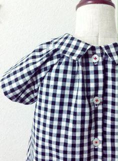 ギンガムチェック 丸襟ワンピース - かわいいハンドメイドベビー服 lepolepo ルポルポ