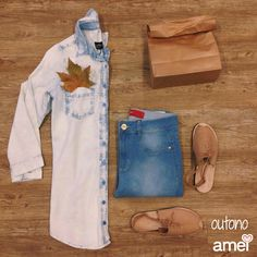 Jeans que combina com tudo.  #lojaamei #jeans #outono #look #moda