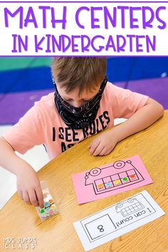 Engaging math centers for kindergarten! Printable and digital activities. Center cards, counting mats, and number puzzles. Click to check them out now!