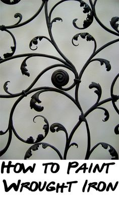 If you have a wrought iron fence, railing, patio furniture, or other piece that needs a fresh coat of paint or an updated color, here are the steps for how to paint wrought iron.