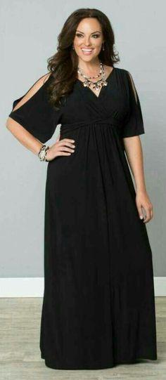 Black dress / vestido negro con mangas