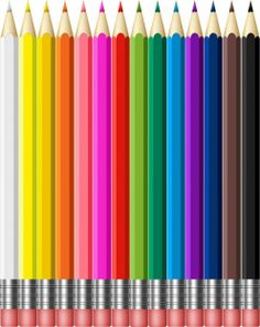 Colorful school pencils with rubber - PSD Designs Creative Flyer Design, Creative Flyers, Page Borders Design, Border Design, Crayola, School Clipart, Color Crayons, Stationery Craft, Flower Background Wallpaper