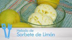 Helado de sorbete de limón