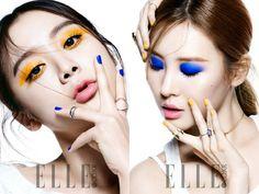 """Hyelim y Sunmi de Wonder Girls' muestran su nuevo maquillaje para """"Elle"""""""