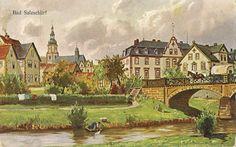 Bad Salzschlirf, an der Altefeld 1906